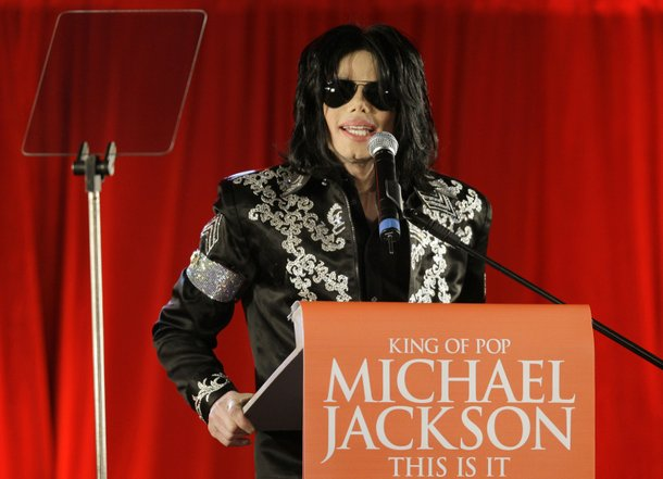 Michael Jackson appears in London to announce his final concerts in the British capital in March 2009.