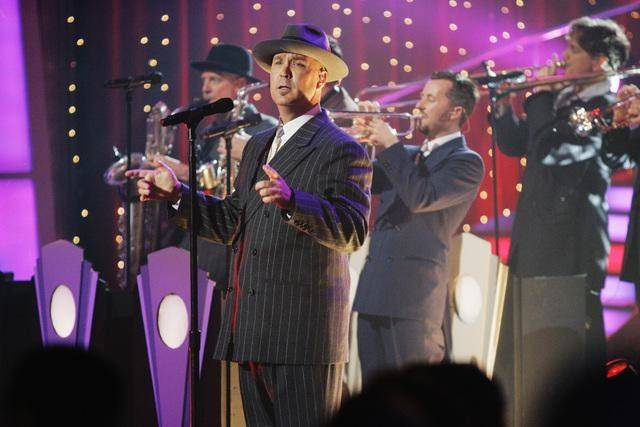 Big Bad Voodoo Daddy performs on <em>Dancing With the Stars</em>.