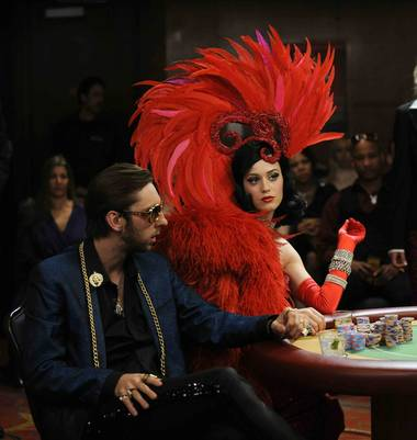 "Katy Perry in a scene from her music video for ""Waking Up in Vegas."""