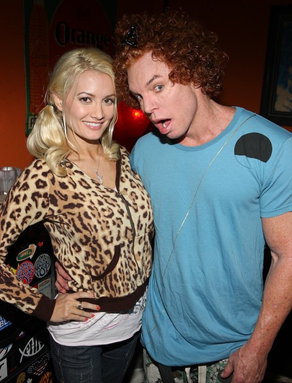 Holly Madison and Carrot Top at the Luxor.