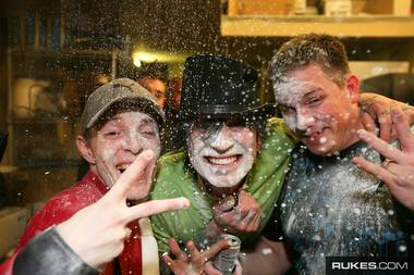 Deadmau5, Tommy Lee, DJ Aero and something messy at WMC 2008.