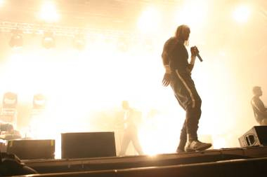 The Prodigy performs during the Ultra Music Festival at Bicentennial Park on March 28, 2009 in Miami.