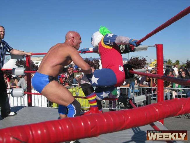 Adrenaline Unleashed Pro Wrestling stars Vic Divine and Doink the Clown.