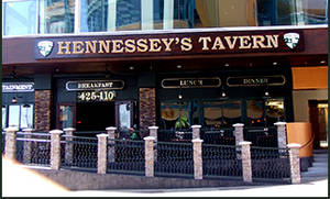 Hennessey's is offering its own economic stimulus package: 25 cent chicken tenders and five cent beers.