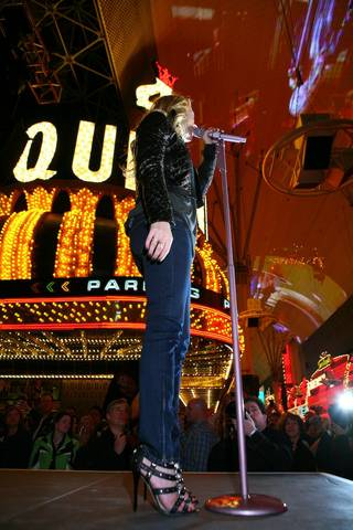 LeAnn Rimes performs live at Fremont Street Experience.