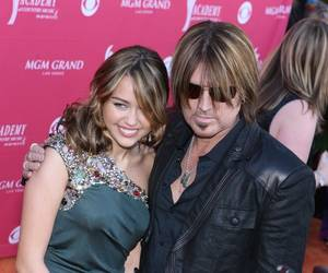 Miley Cyrus and Billy Ray Cyrus at the 2009 Academy of Country Music Awards at MGM Grand Garden Arena.