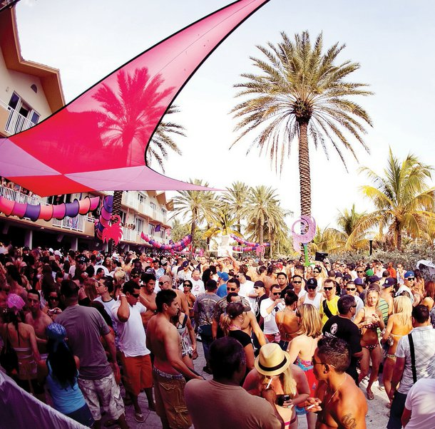 The Hard Rock Hotel's Rehab pool party... in Miami