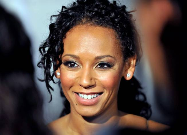 "Mel B at the premiere of ""Peepshow"" in Planet Hollywood in April 2009."