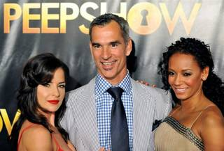 Kelly Monaco, Jerry Mitchell and Mel B at the premiere of