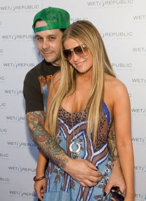Rob Patterson and Carmen Electra at Wet Republic.