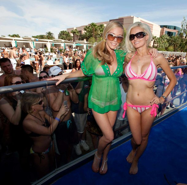 Kendra Wilkinson and Holly Madison.