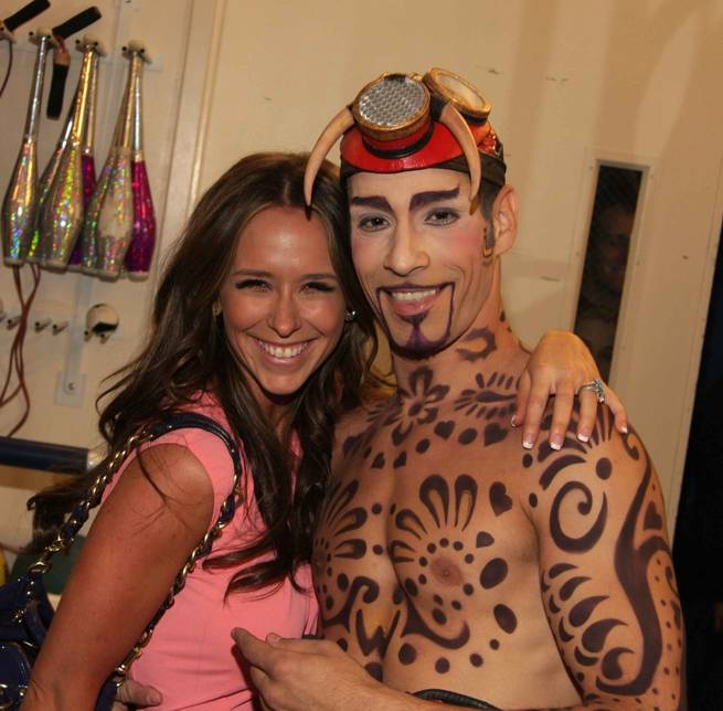 Jennifer Love Hewitt poses for a photo with <em>Love</em> cast member Hassan El Hajjami.