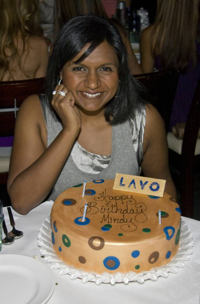 Mindy Kaling of NBC's <em>The Office</em> celebrates her 30th birthday at Lavo.