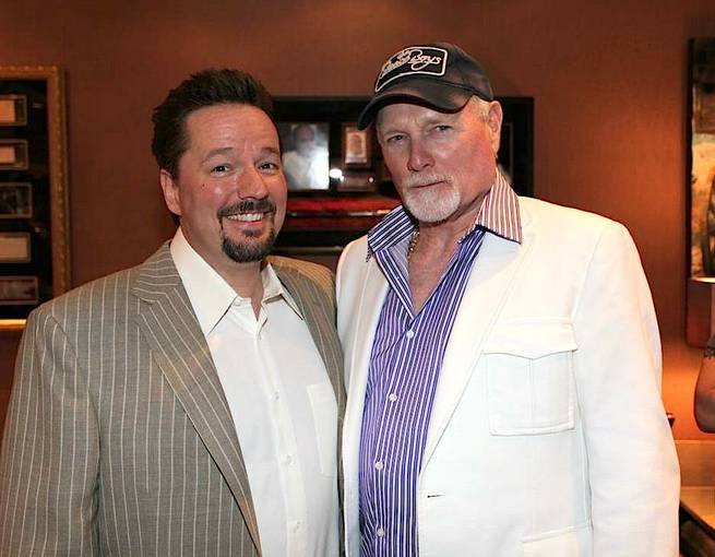 Terry Fator with Mike Love of The Beach Boys.