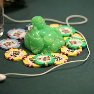 A good luck charm at the World Series of Poker.