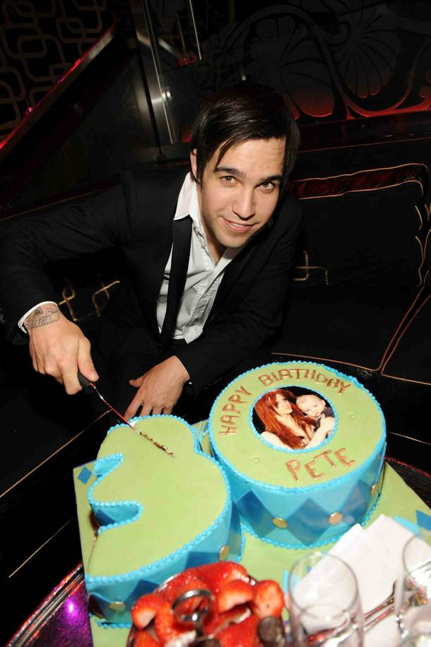 Musician Pete Wentz celebrates his 30th birthday at The Bank Nightclub inside the Bellagio.