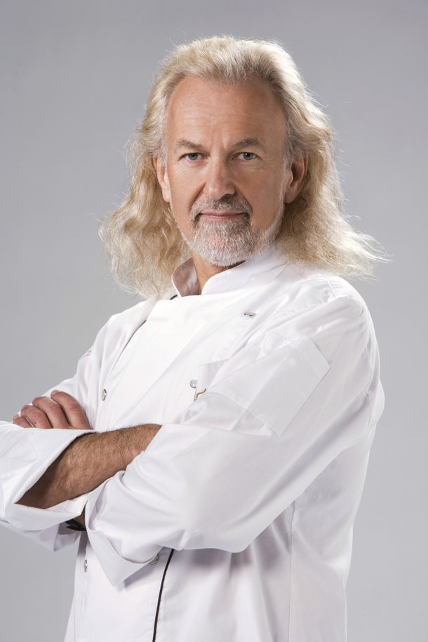 Hubert Keller of Fleur de Lys and Burger Bar is one of 24 elite chefs competing on Bravo's Top Chef Masters.