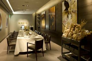 The Krug Champagne Room at Restaurant Guy Savoy in Caesars Palace.