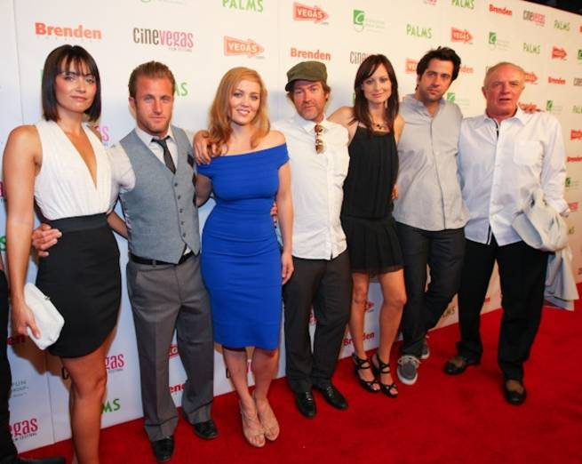 <em>Mercy</em> cast members Wendy Glenn, Scott Caan, Erika Christensen, direct Patrick Hoelck, Alexie Gilmore, Troy Garity and James Caan.