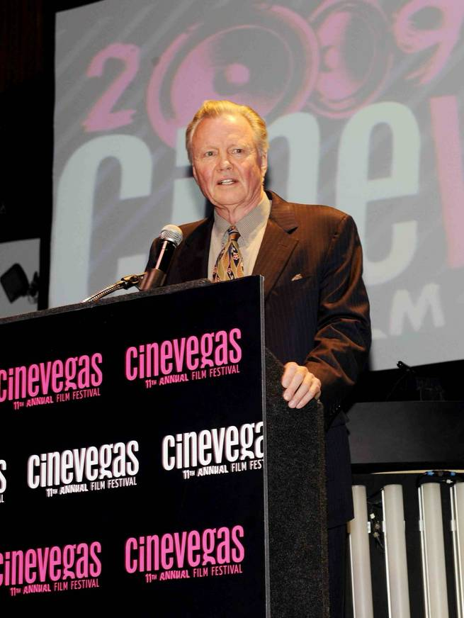 Jon Voight accepts the Marquee Award at the 2009 CineVegas Film Festival Filmmaker and Honoree Awards at the Palms.