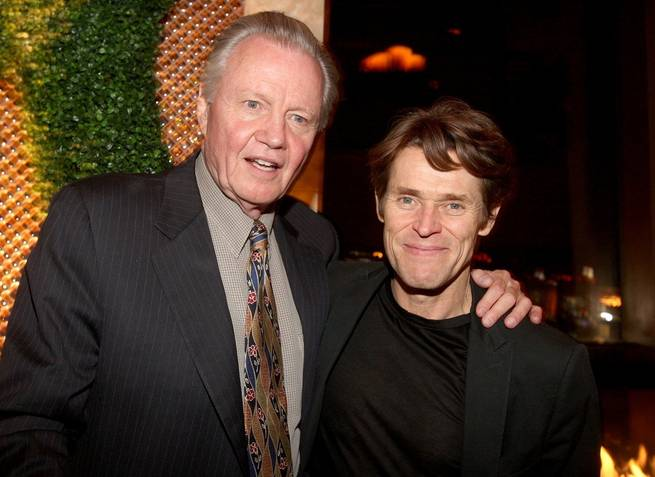 Jon Voight and Willem Dafoe at Rain.