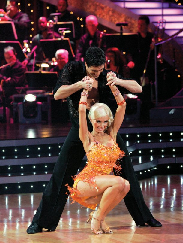 Holly on Dancing With the Stars.