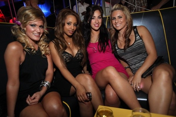 2009 Playmate of the Year Ida Ljungqvist, second from left, at The Playboy Club in the Palms.