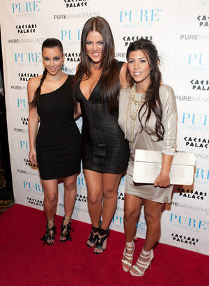 The three musketeers: Kim, Khloe and Kourtney Kardashian partied at Pure to celebrate Khloe's 25th birthday.