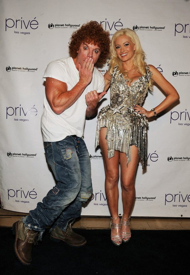 Carrot Top and Holly Madison.