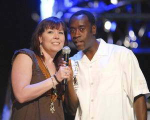 Annie Duke and Don Cheadle.