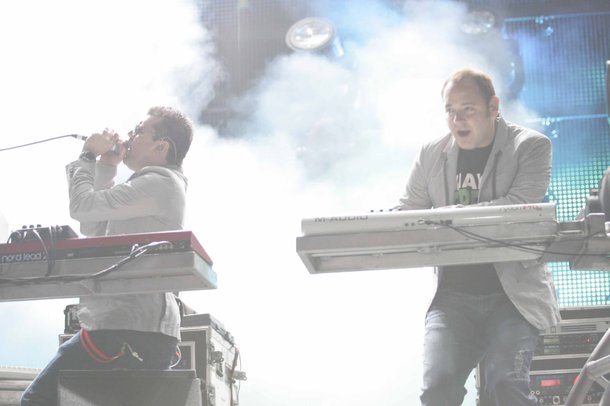 The Crystal Method performing live during EDC 2009.
