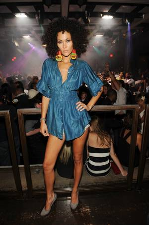 <em>America's Next Top Model</em> Cycle 6 contestant Jade Cole attends a performance by Nelly at Jet.