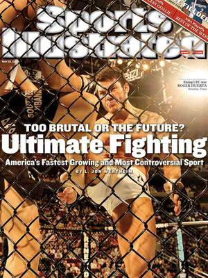 UFC fighter Roger Huerta is featured on the cover of <em>Sports Illustrated</em> in 2007.