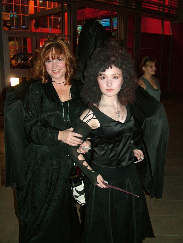 Rebecca Smith and her daughter, Samantha, have Jared Lee as a Death Eater lurking over their shoulders.