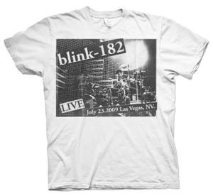The limited edition Blink 182 T-shirt for the reunion tour's Las Vegas stop.
