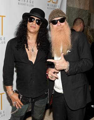 Slash and Billy Gibbons of ZZ Top at Jet in The Mirage.