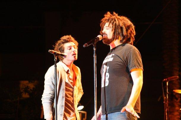 Dan Layus of Augustana and Adam Duritz of Counting Crows