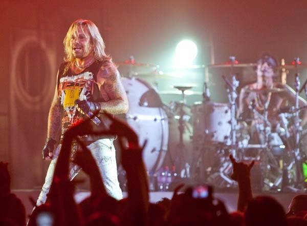 Motley Crue's Vince Neil at The Joint in the Hard Rock Hotel.