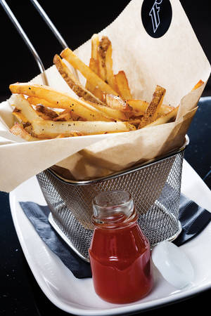 First's fries, a hangover-friendly snack.