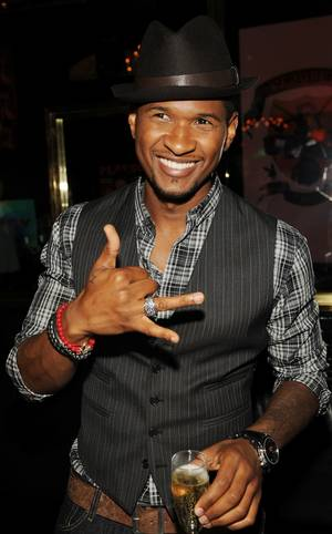 Usher at the Palms for the <em>Vegas</em> magazine party in his honor.