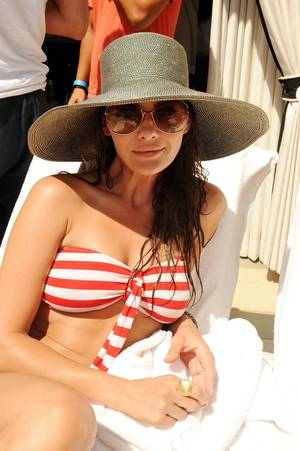 Ali Landry at Azure Pool in the Palazzo.