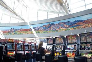 "Harold Bradford""s ""Triptych Passages"" at McCarran International Airport."