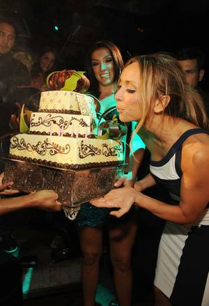 Giuliana Rancic celebrates her 35th birthday at Tabu Ultra Lounge in MGM Grand.