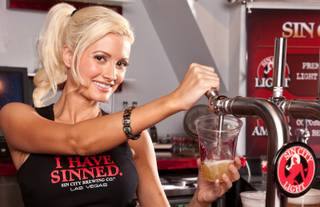 Holly Madison at Sin City Brewing Co.