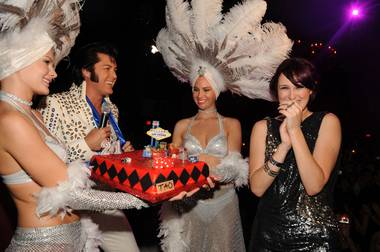 Rumer Willis celebrates her 21st at Tao in true Vegas style.