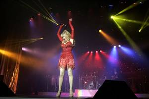 Charo performs at the Riviera in Las Vegas on July 15, 2009.
