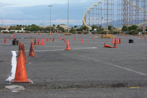 Autocross (also known as SOLO) involves setting up a temporary course with traffic cones. Competitors race against the clock for the fastest time.