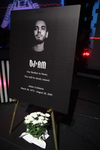 Rain's tribute to DJ AM in the Palms.