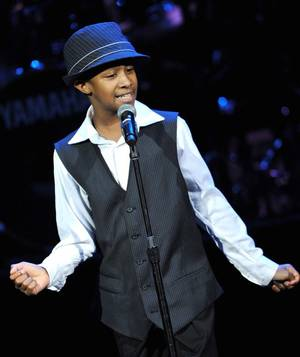 "Elijah Johnson during ""Las Vegas Celebrates the Music of Michael Jackson"" at The Pearl in the Palms."