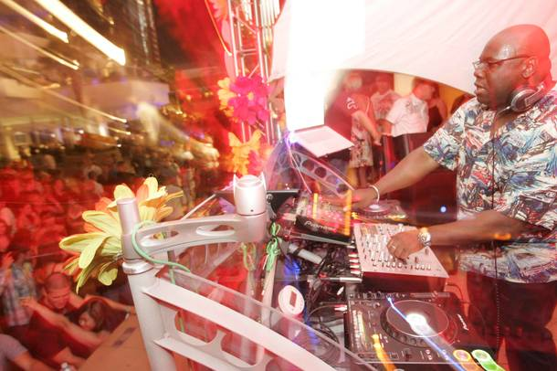 Carl Cox spinning at Love Festival in May at the Palms. The